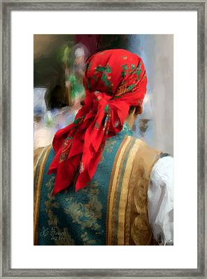 Framed Print featuring the photograph Valencian Man In Traditional Dress. Spain by Juan Carlos Ferro Duque
