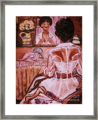 Framed Print featuring the painting Valentina by Helena Bebirian