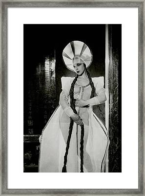 Valentina Koshubaas The Bride In Les Noces Framed Print by Cecil Beaton
