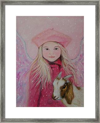 Valentina Little Angel Of Perseverance And Prosperity Framed Print by The Art With A Heart By Charlotte Phillips