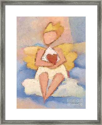 Valentine Angel Framed Print