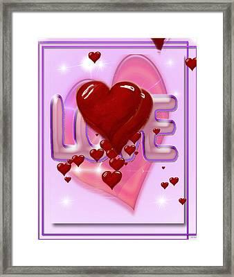 Valentine Card Love Framed Print