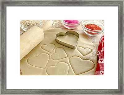 Valentine Cookie Love Framed Print