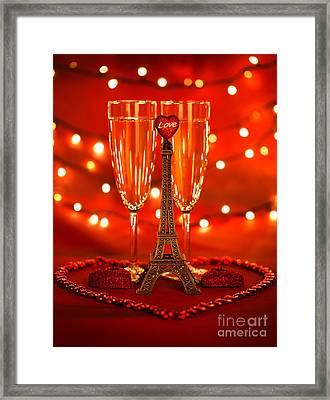 Valentine Day Beverage Framed Print