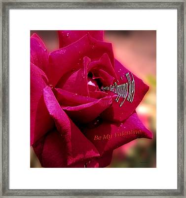 Valentine Dripping Wet Framed Print by Thomas Woolworth