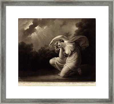 Valentine Green After Maria Cosway British Framed Print