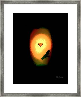 Valentine Heart 1 Framed Print by Brian D Meredith