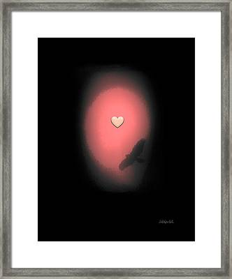 Valentine Heart 3 Framed Print by Brian D Meredith