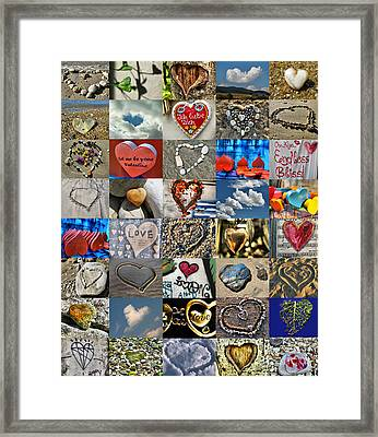 Valentine - Hearts And Memories   Framed Print by Daliana Pacuraru