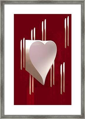 Valentine Paper Heart Framed Print