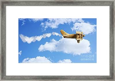 Valentine Plane Framed Print