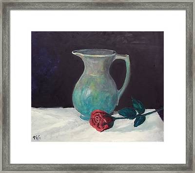 Valentine Rose Framed Print by Peter Edward Green