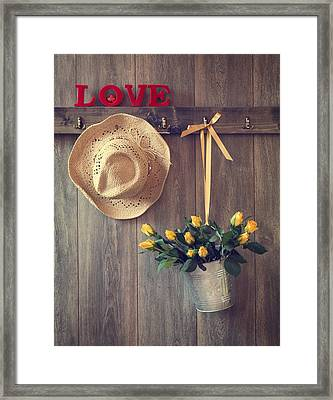 Valentine Roses Framed Print by Amanda Elwell