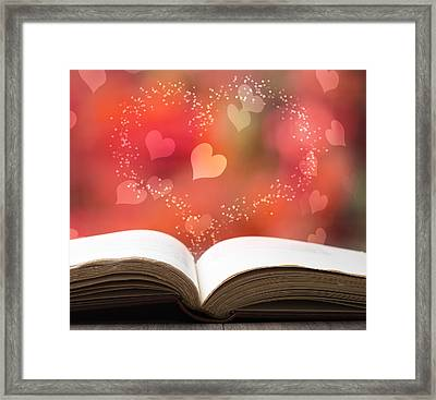 Valentine Story Book Framed Print
