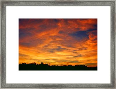 Valentine Sunset Framed Print by Tammy Espino