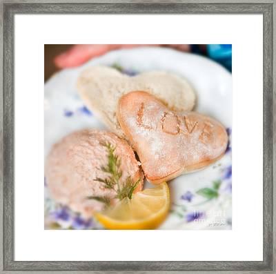 Valentines Breakfast Love Framed Print by Iris Richardson