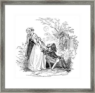 Framed Print featuring the photograph Valentines Day, 1855 by British Library