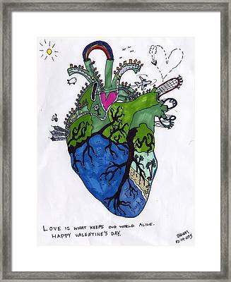 Valentine's Day 2015 Framed Print by Ethan Altshuler