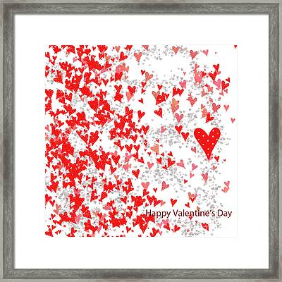 Valentine's Day Card Framed Print