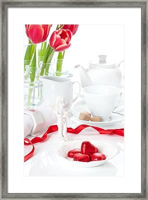 Valentine's Day Chocolates Framed Print