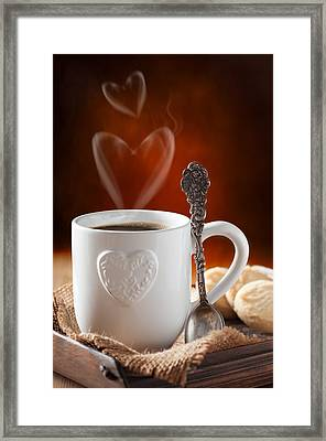 Valentine's Day Coffee Framed Print by Amanda Elwell