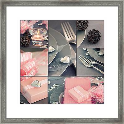 Valentine's Day  Collage Framed Print by Mythja  Photography