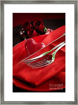 Valentine's Day Dinner Framed Print