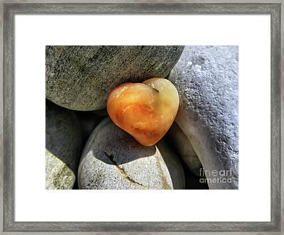 Valentine's Day- Heart Of Stone Framed Print by Daliana Pacuraru