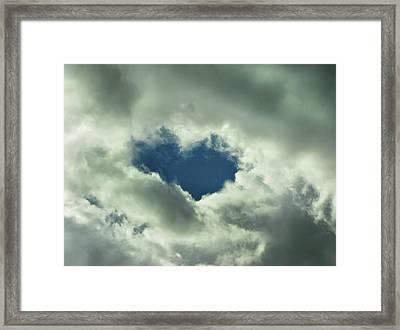 Valentine's Day - Heart Shape Framed Print