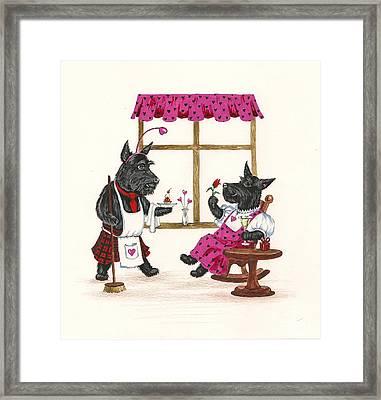 Valentines Day Macduf Framed Print by Margaryta Yermolayeva