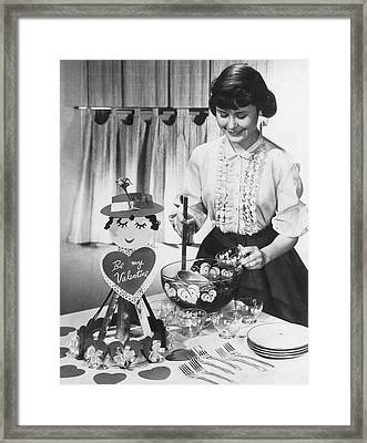 Valentine's Day Party Framed Print by Underwood Archives