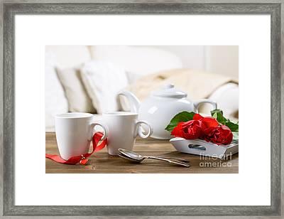 Valentines Day Tea Framed Print by Amanda Elwell