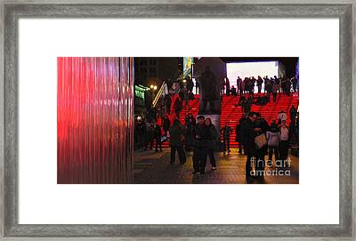 Valentine's Day - Times Square Framed Print by Jeff Breiman