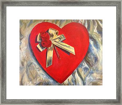 Valentine's Heart Framed Print by Chrissey Dittus
