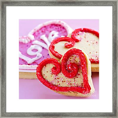 Valentines Hearts Framed Print by Elena Elisseeva
