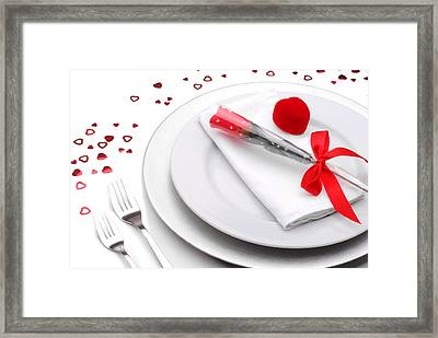 Valentines Romantic Dinner Framed Print