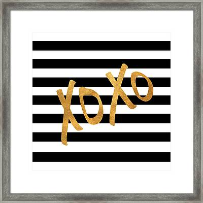 Valentines Stripes IIi Framed Print by South Social Studio
