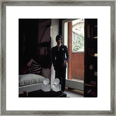 Valentino In Shadow Framed Print