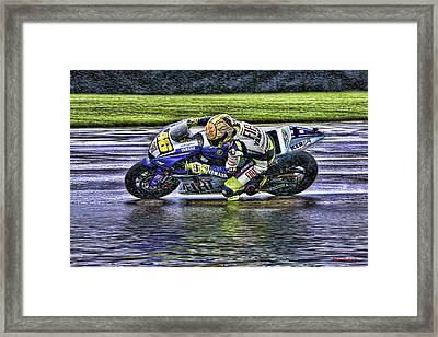 Valentino Rossi At Indy Framed Print