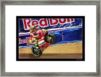 Valentino Rossi Ducati Framed Print