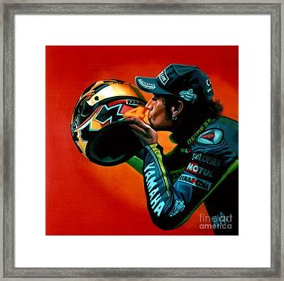 Valentino Rossi Portrait Framed Print