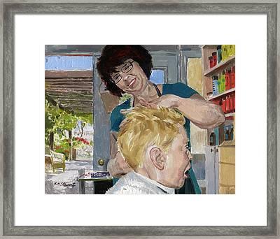Valerie Stewart's Salon Framed Print