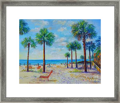 Valerie's View Of Siesta Key Framed Print