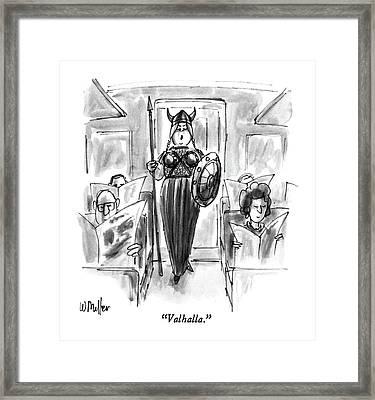 Valhalla Framed Print by Warren Miller
