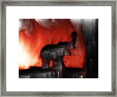 Valiant Warrior Framed Print by Tom Druin