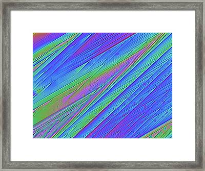 Valium Drug Crystals Framed Print by Alfred Pasieka