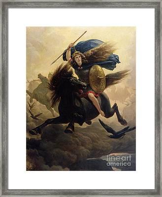 Valkyrie Framed Print by Peter Nicolai Arbo