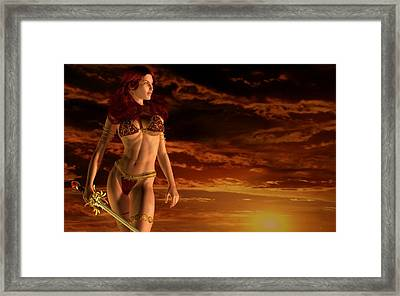 Valkyrie Sunset Framed Print
