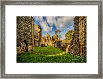 Valle Crucis Abbey Ruins Framed Print by Adrian Evans