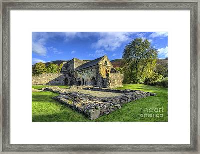 Valle Crucis Abbey V4 Framed Print